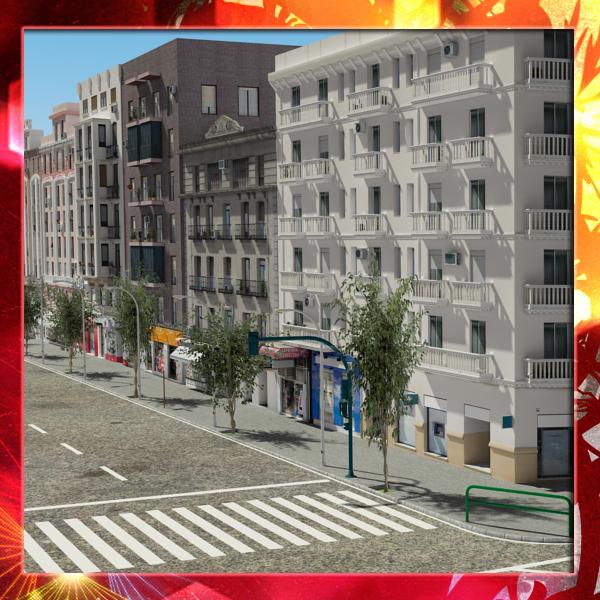 european city block 01 max