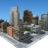 city street set 3d model