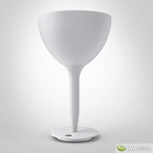 castore calice tavolo table lamp 3d max