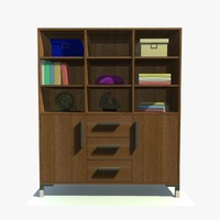3d sienna door display cabinet model