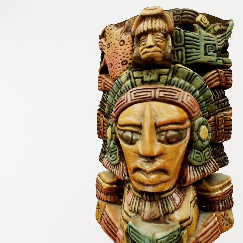 3d aztec figure replica
