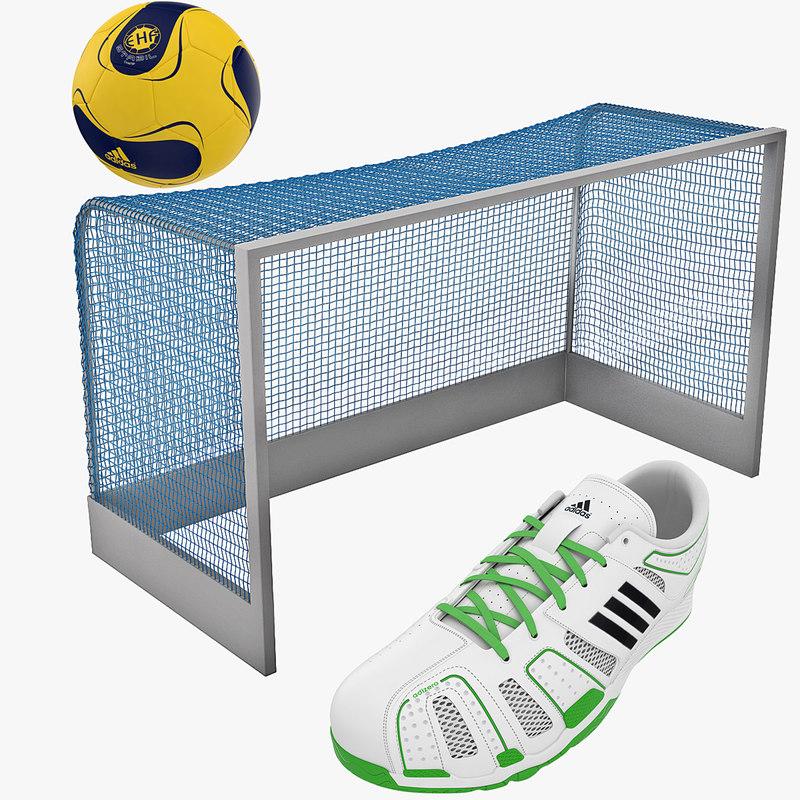 3d model handball equipment ball