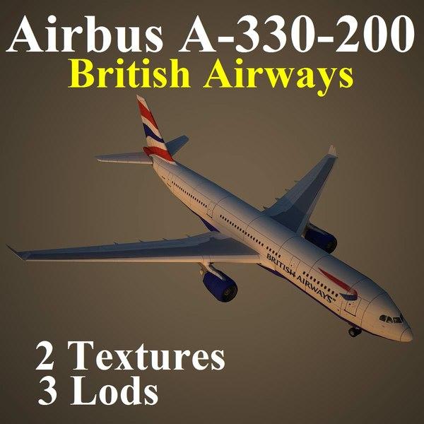 3d airbus british airways baw