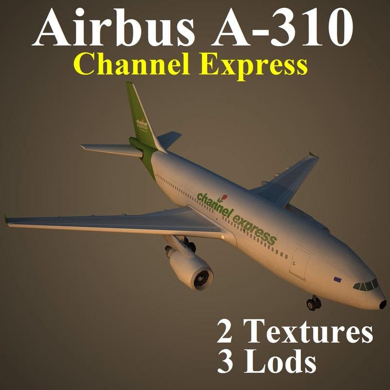airbus exs 3d max