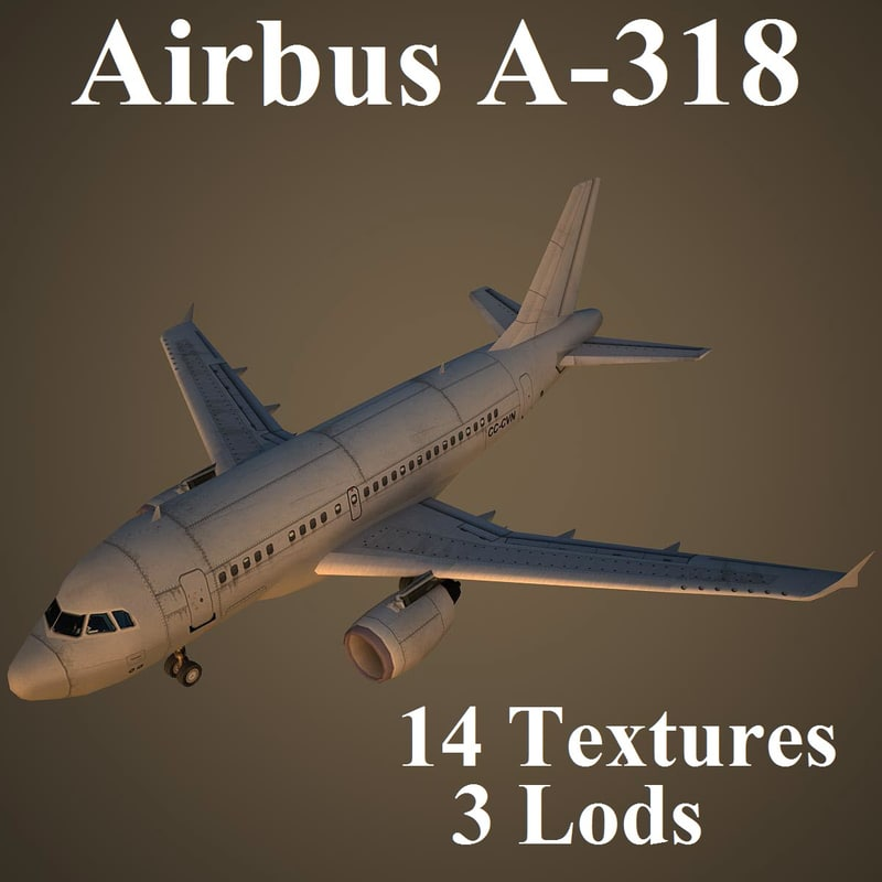 airbus a-318 airways 3d model