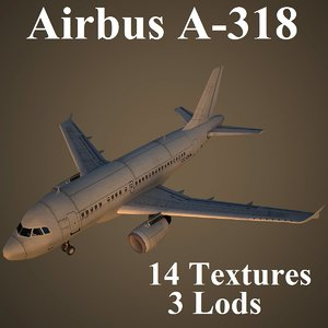 airbus a-318 airways 3d model