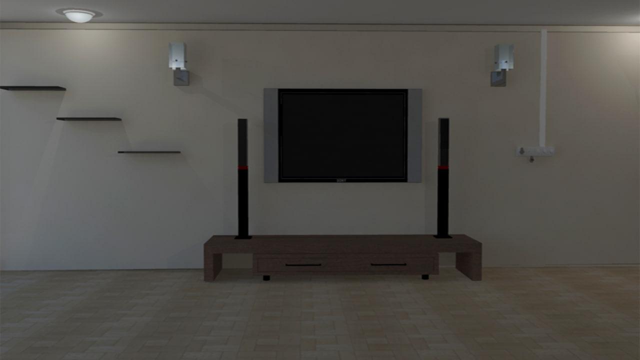 3d room interior model