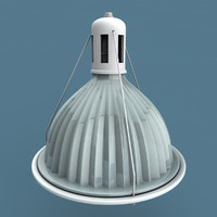 industrial glass light obj