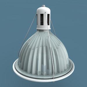 industrial glass light obj