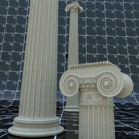 Ionic Column With Decor