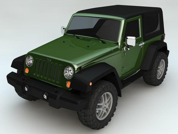 c4d jeep wrangler rubicon