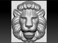 lion relief 3d obj