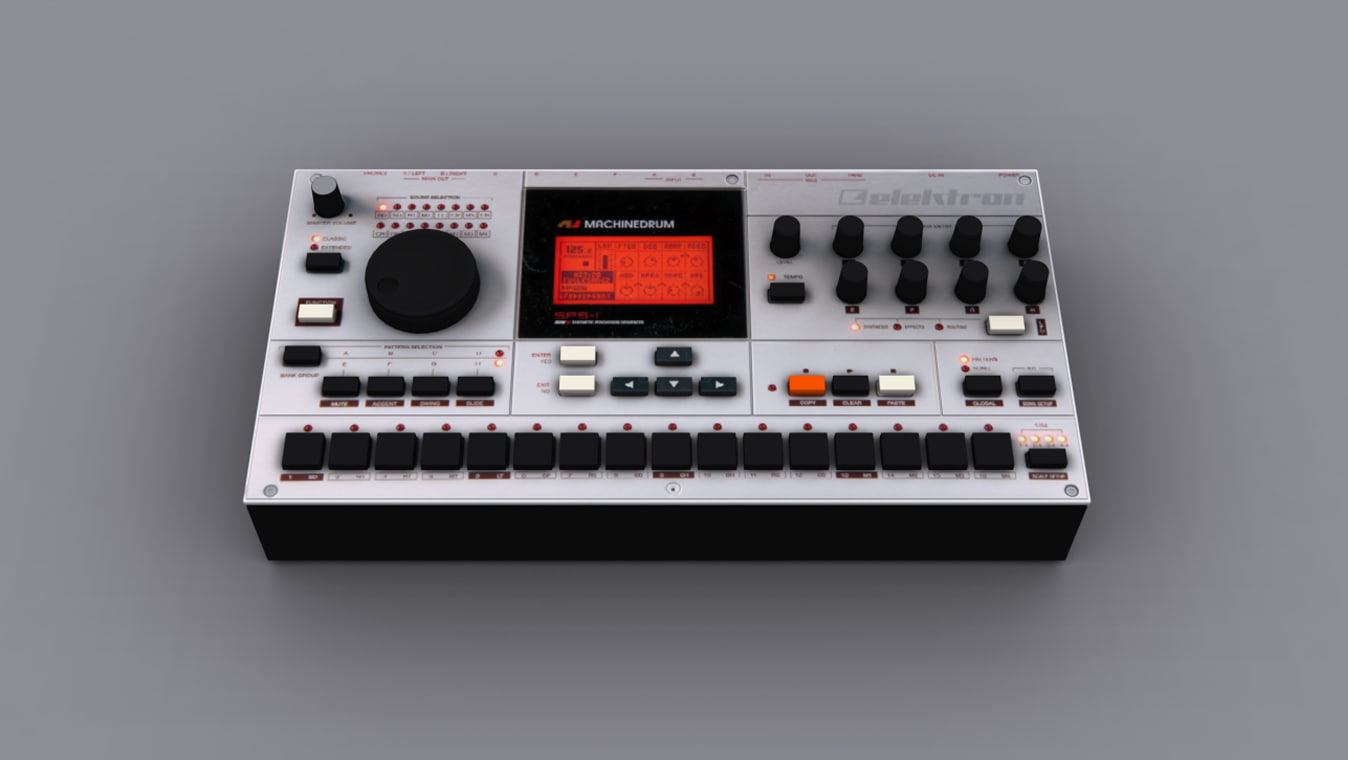 machinedrum elektron 3d model