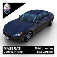 3dsmax 2014 maserati quattroporte