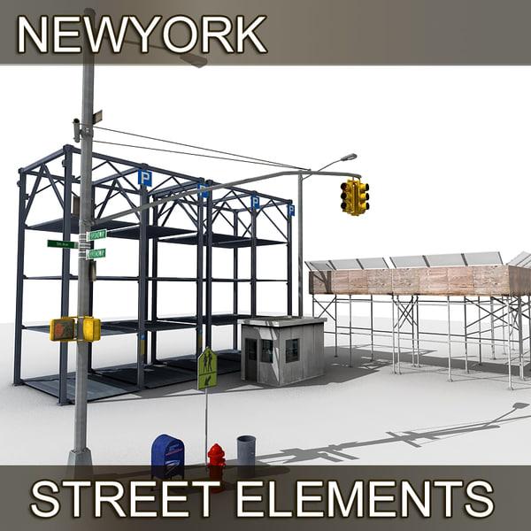 newyork street elements 3d model