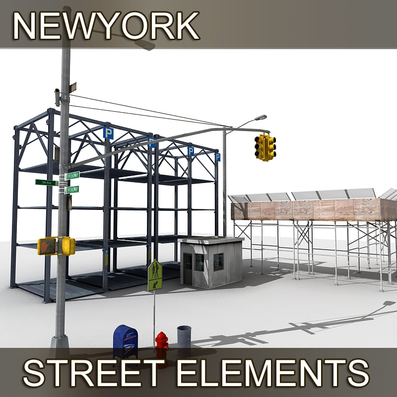 newyork street elements 3d model