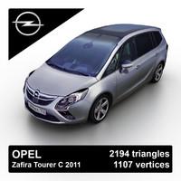 2011 opel vauxhall zafira 3d model