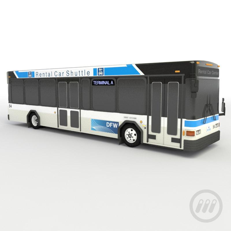 bus rental 3d max