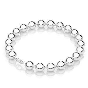 silver bead bracelet 3d model