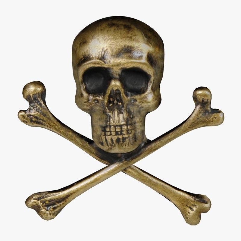 3d wall gold skull fg