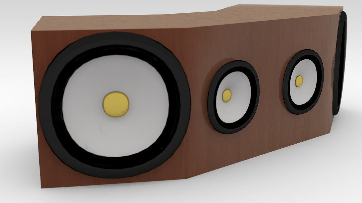 c4d abstract speaker cabinet