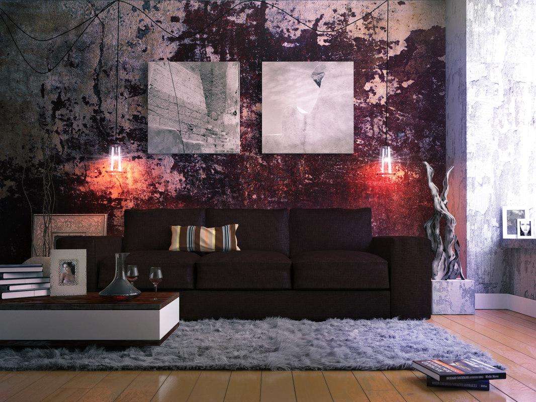 sofa studio interior shot 3d max