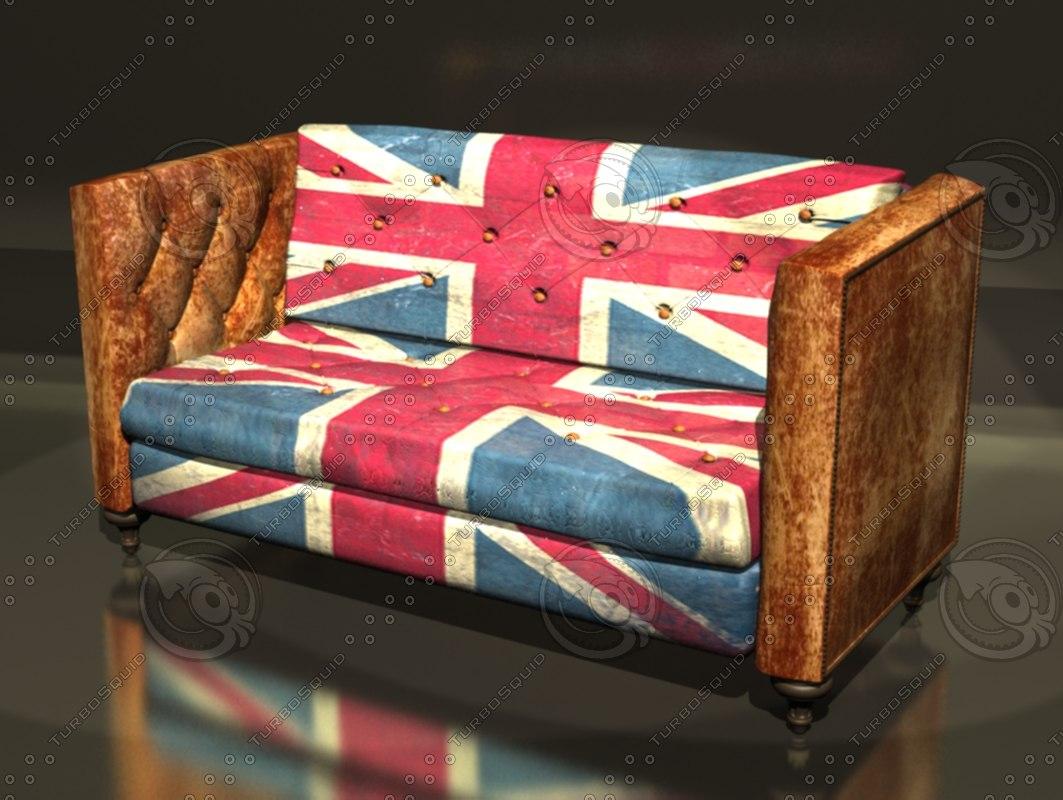 3d vintage sofa model
