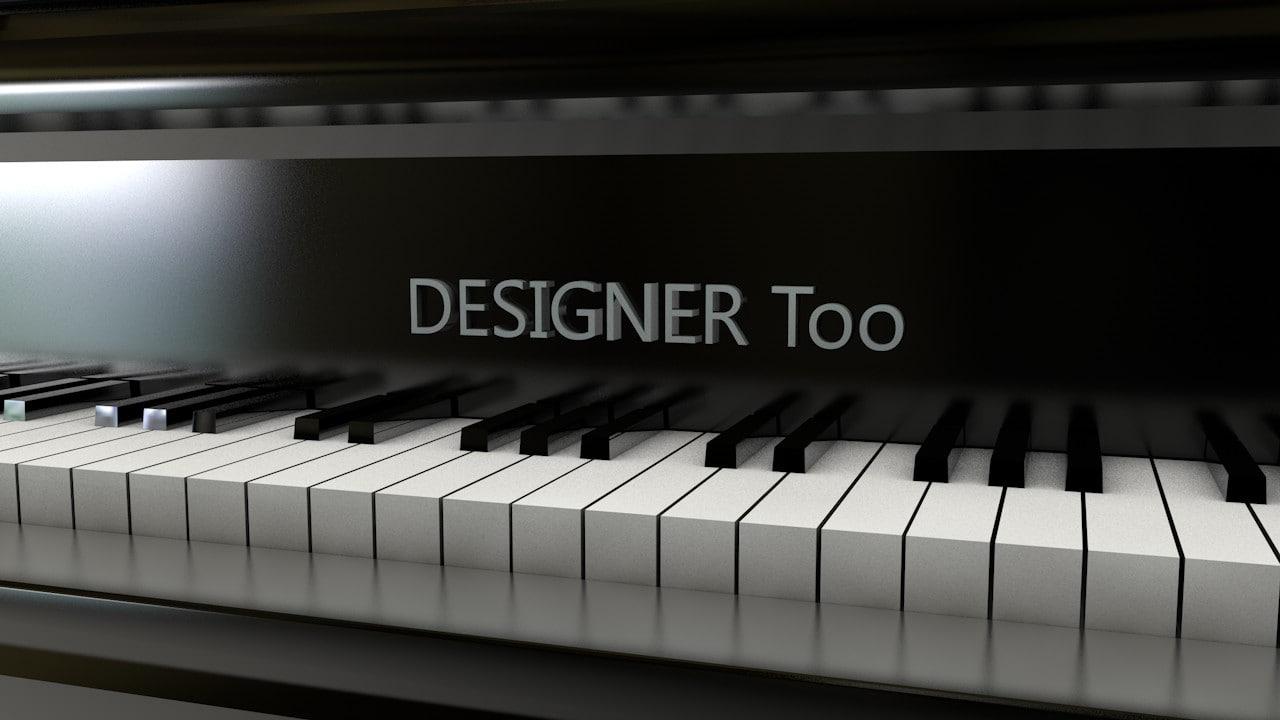 3d c4d piano black