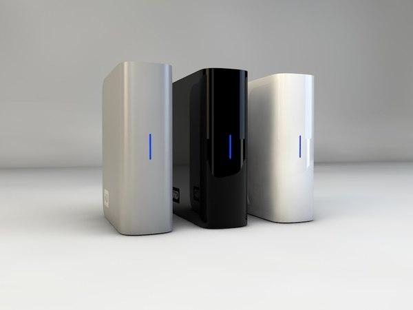 external hard drive 3d model