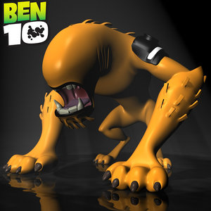 3d model ben 10 wildmutt rigged