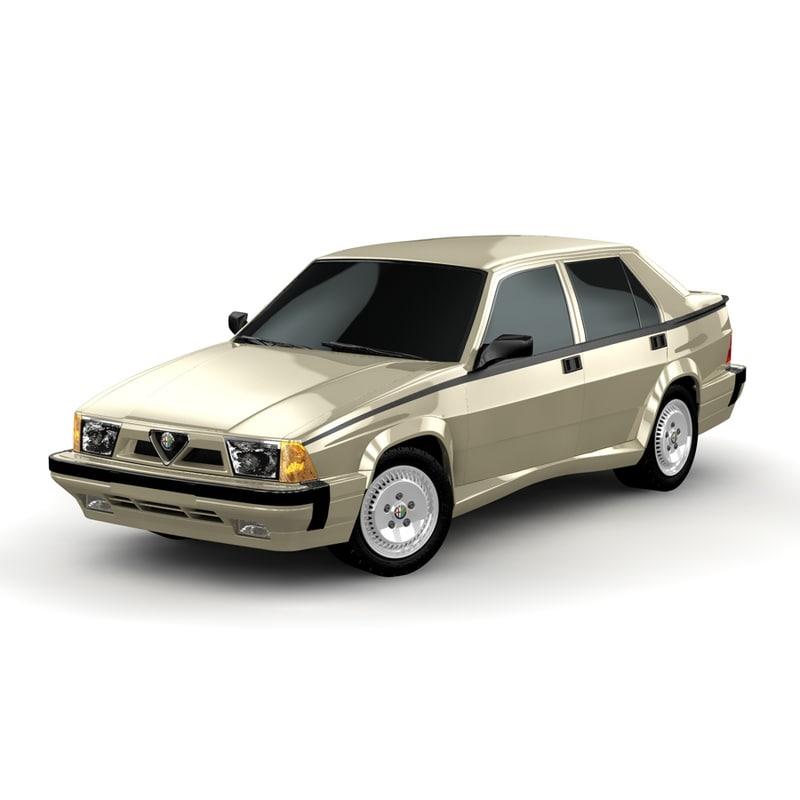 3d alfa romeo 75 model