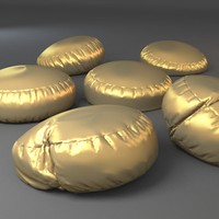 bean bag chairs 3d obj