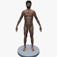 cave man caveman 3d model