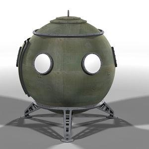 escape capsule 3d model