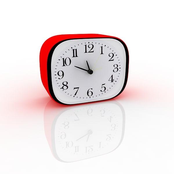 3d model table clock