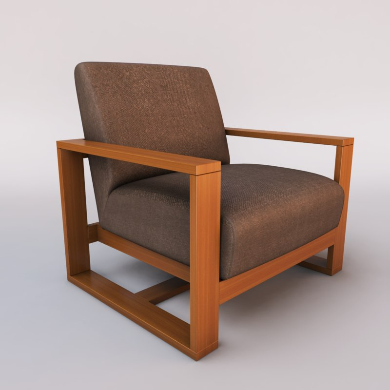 3ds max cube chair design