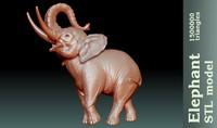 stl elephant 3d model
