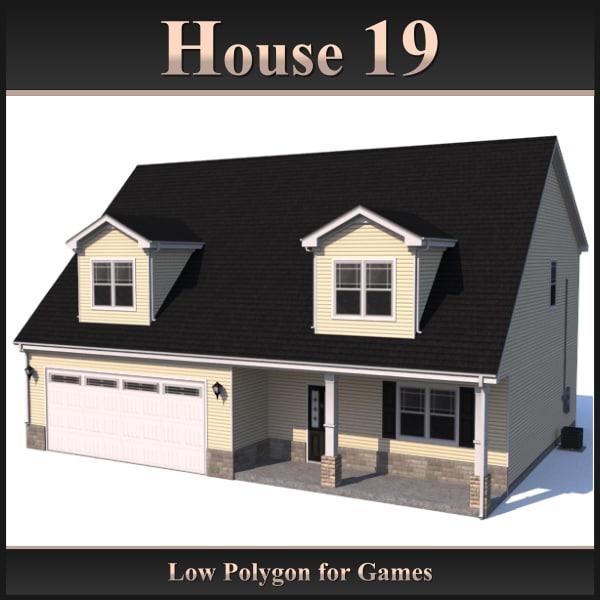 house 19 3d 3ds