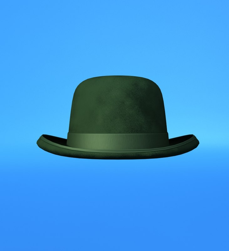 3ds max bowler hat