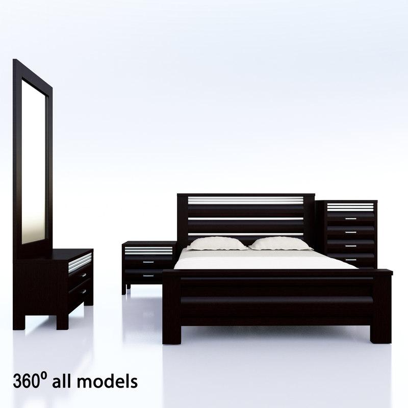 3d model bed venga