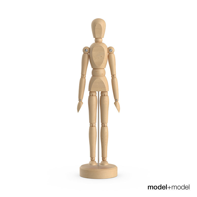 3d wooden man figure