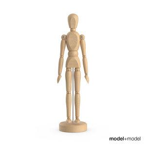 3d wooden man figure