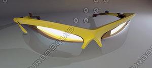 sun glass 3d max