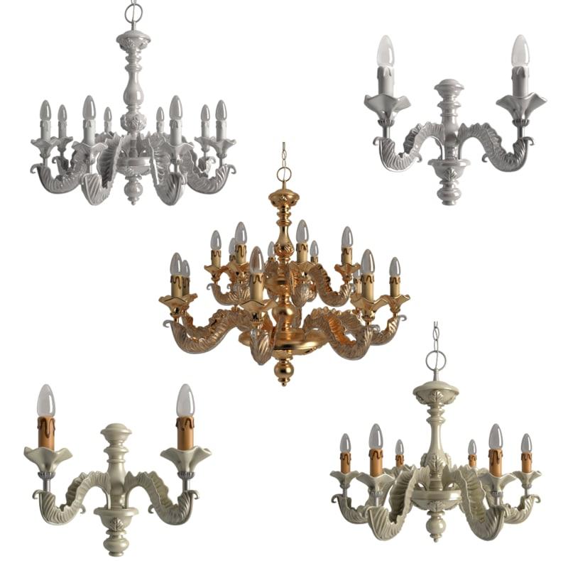 3d model chandeliers stillux gli ori