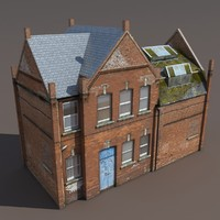 old building modeled 3d max