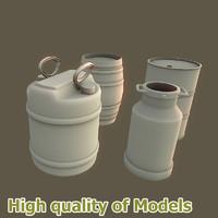 3d model of barrel pack