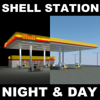 maya shell gas station day