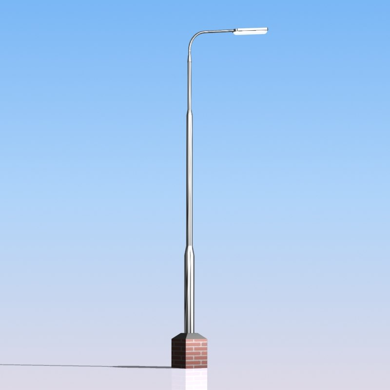 3d model street lamp light