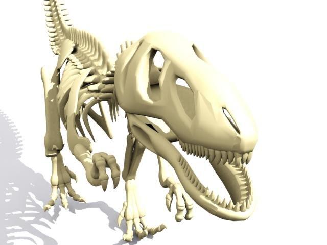 skeleton dino skelet 3d max
