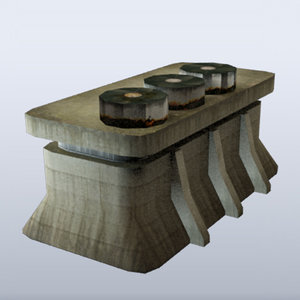 3ds max bunker building